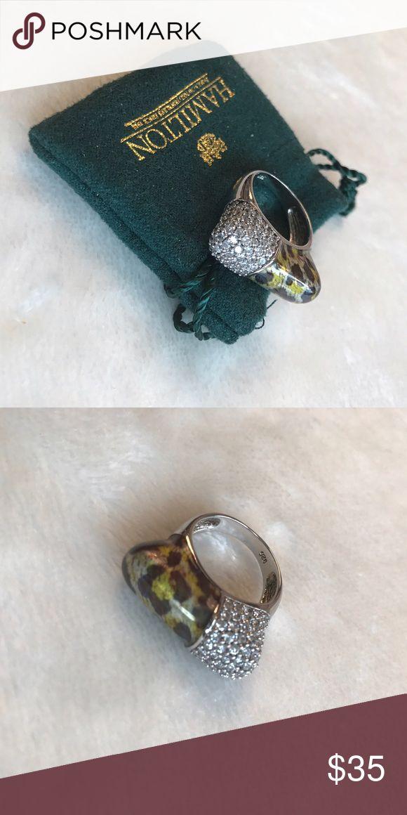 Hamilton Jewelers ring. Stunning animal print ring with Swarovski crystals Jewelry Bracelets