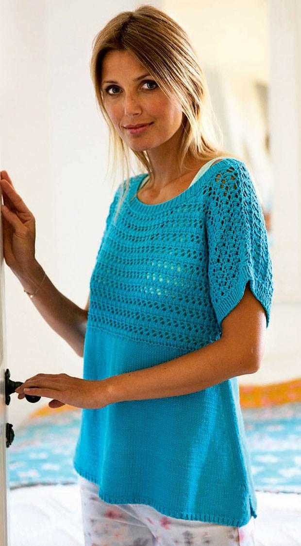 Blusen har slidser i siderne og masser af vidde forneden. Indtagningerne langs sidesømmen danner en flot skrå linje, der giver blusen finish.