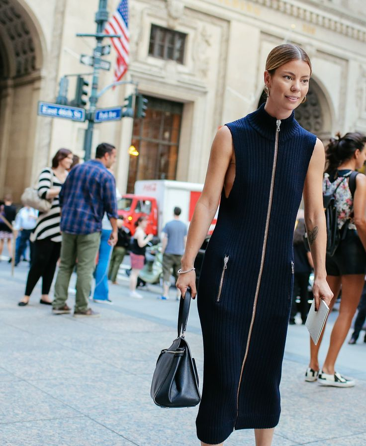 Annina Mislin in an Acne Studios dress: