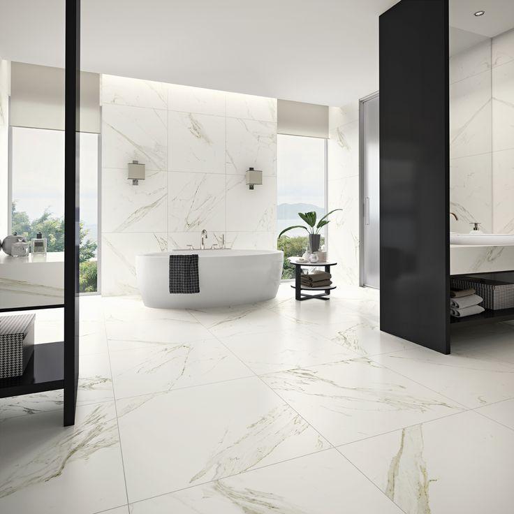 Modern guest bathroom - Lan 231 Amentos Biancogres 2015 Calacata Satin 83x83cm