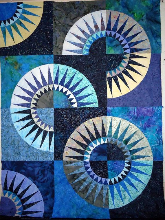 SALE . . . SALE . . . Sale . . . Batik New York Beauty Quilt Top Ready to Quilt and Ready to Ship via Etsy