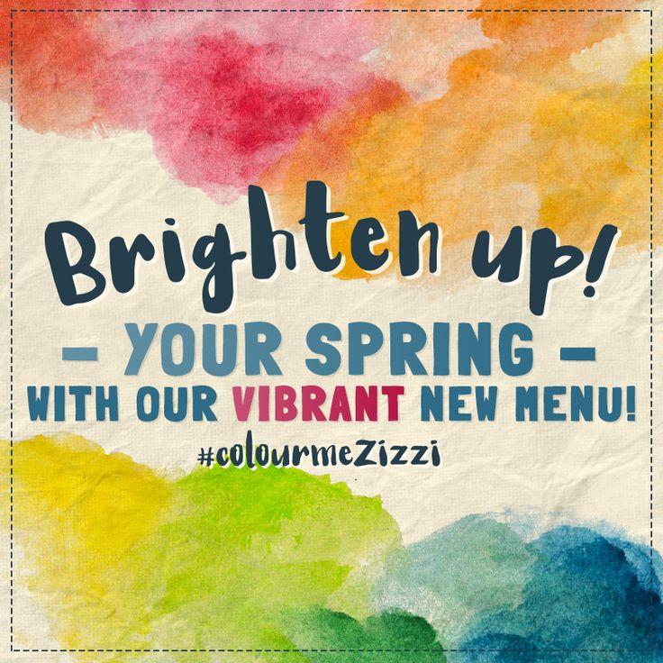 This spring it's ALL about COLOUR BURSTING FLAVOURS! #ColourMeZizzi