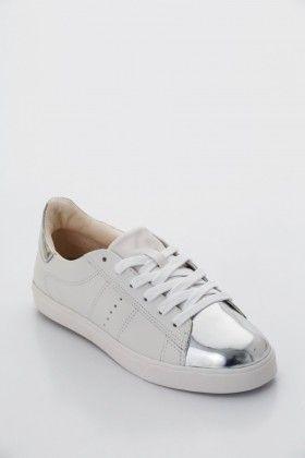 Fehér/Ezüst Montonelli Női Utcai cipő