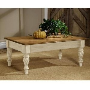 Wilshire Antique White Finish Tail Coffee Table