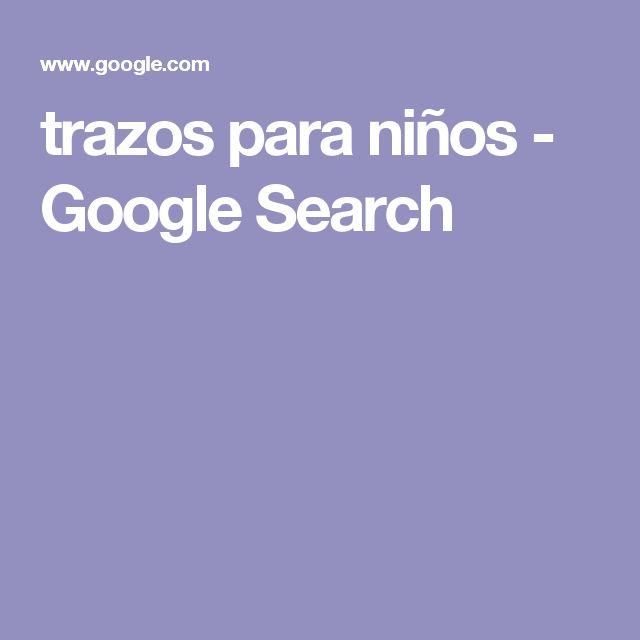 trazos para niños - Google Search