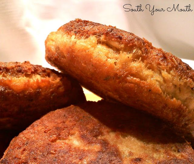Classic Salmon Patties (or Salmon Croquettes) pan fried until golden brown and delicious!.......substitute salmon filet or my canned salmon instead of canned from store