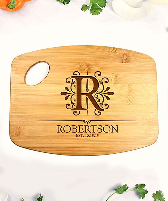 Personalized Underline Name Bamboo Cutting Board