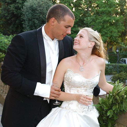MELISSA JOAN HART & MARK WILKERSON Though a power outage threatened to foil Hart's 2003 nuptials in Florence to musician Wilkerson, the veteran performer kept her cool – and even found time for a nap before the ceremony, which took place in a villa that reminded Hart's wedding planner of Versailles.