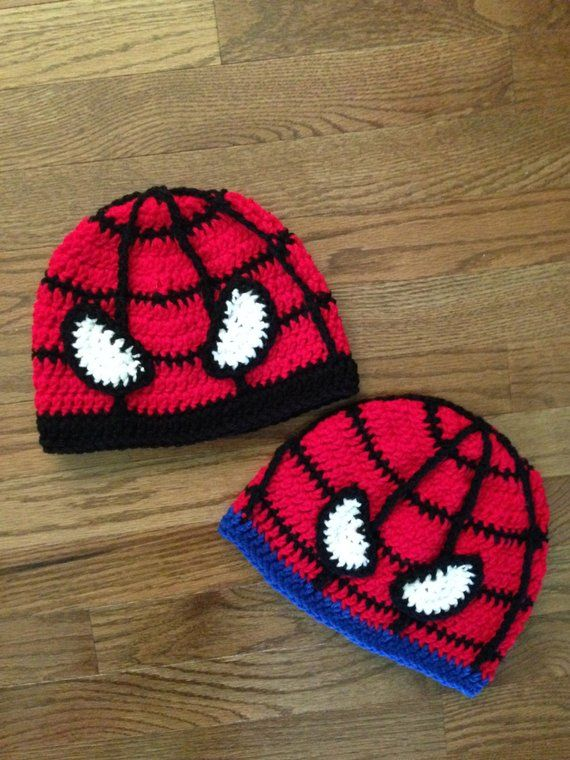 904c4514 Superhero Spiderweb Beanie Hat; Spiderman Inspired Spider Web Character  Beanie Hat; Baby - Toddler
