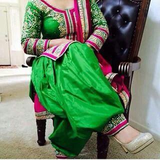 Green and pink Punjabi suit. Follow Pinterest : @reetk516  ThatAlluringKaur