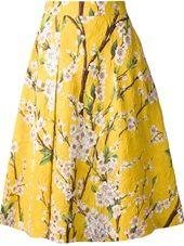Dolce & Gabbana - Saia amarela estampada