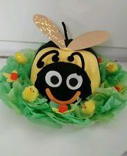 Cute Bumble Bee Handmade Easter Bonnet hat boys / girls