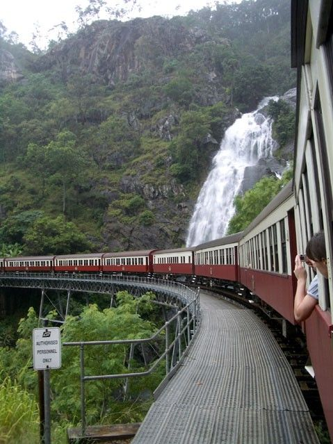 The Kuranda railway, stop at Barron Falls on the way to Kuranda, then the markets. Love far North Queensland, Australia