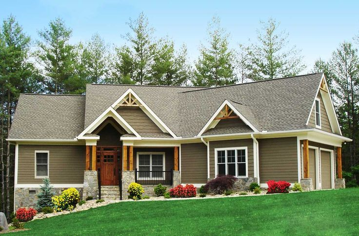 Craftsman inspired ranch home plan 15883ge cottage for Craftsman house plans first floor master