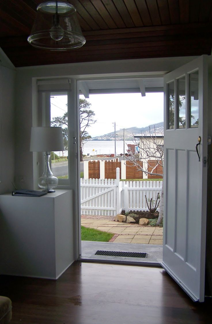 The view from the other side of the over-sized front door.