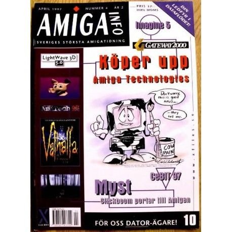 Amiga magazine from 1996. Swedish. With news about Gateway 2000 buying up Amiga tech.