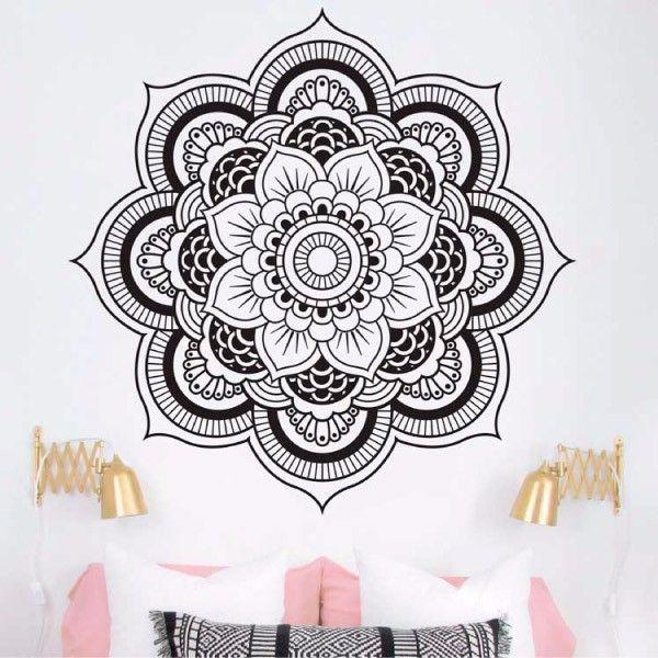 25 melhores ideias sobre mandalas en paredes no pinterest for Donde conseguir vinilos decorativos