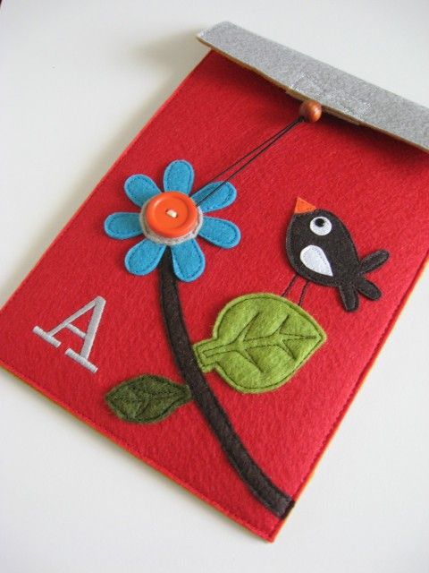 Kindle case. I want to make one of these...so cute!