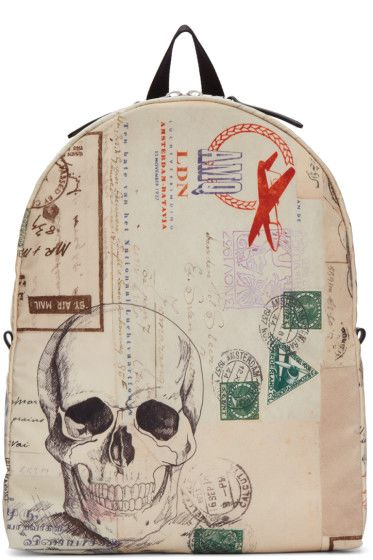 Alexander McQueen - Ivory Letters From India Backpack