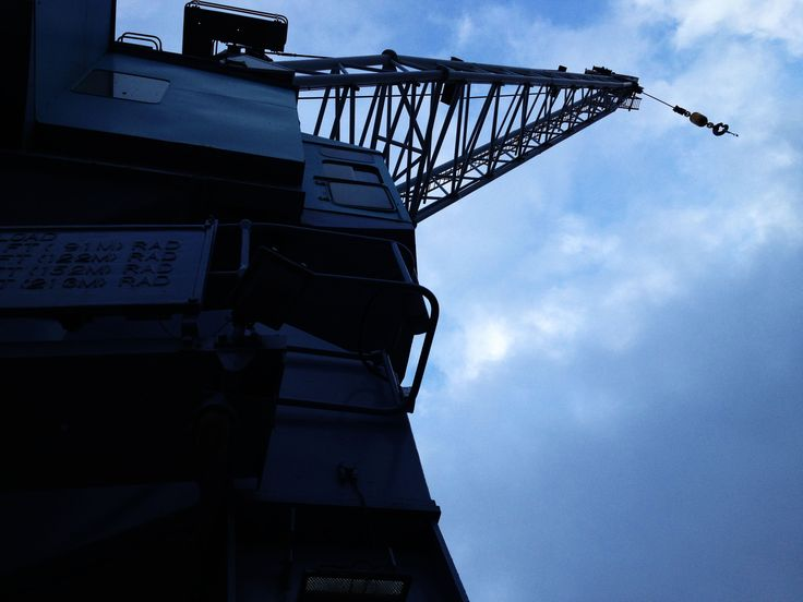 in this photo i made the crane darker so the sky looked lighter to do this i had to make the contrast higher and the brightness up