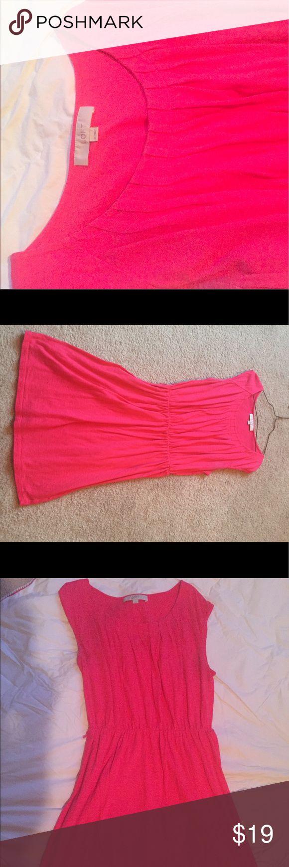 LOFT, PINK DRESS LOFT, PINK DRESS, wear for office work or weekend outing in HOT SUMMER DAY! LOFT Dresses Midi