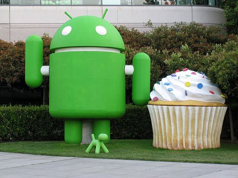 Android and Giant Cupcake