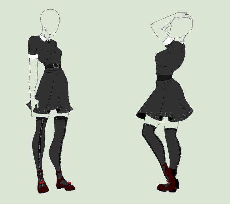 Outfit Adopt - The Black Antichrist Maiden - SOLD by ShadowInkAdopts.deviantart.com on @deviantART