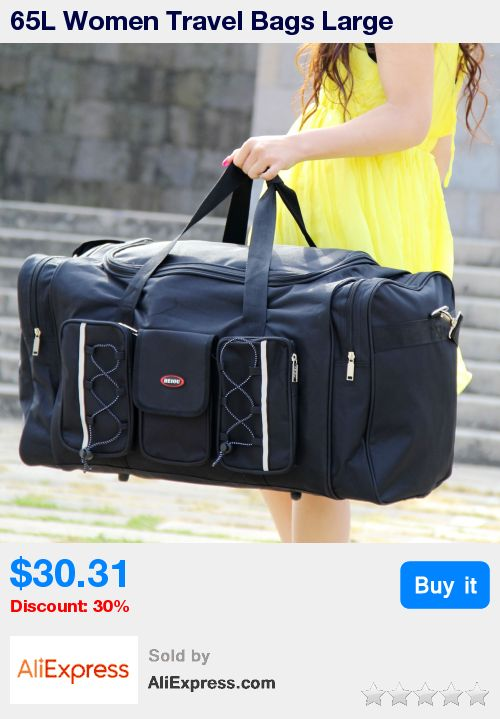 65L Women Travel Bags Large Capacity Girl Luggage Travel Duffle Shoulder Bags Canvas Travel Folding Bag For Trip * Pub Date: 22:30 Apr 10 2017