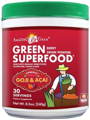 Amazing Grass Green SuperFood Powder, Berry Superfruit - Free Shipping