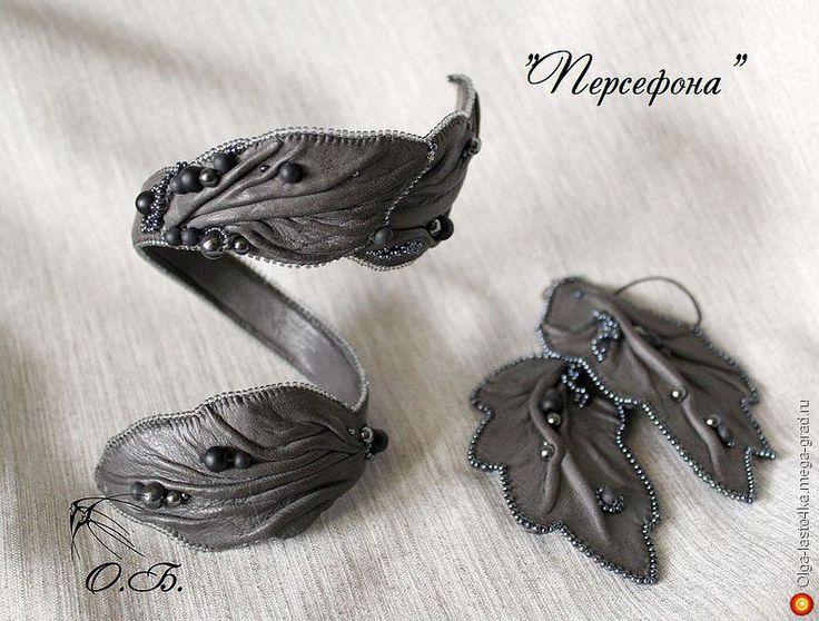 """Витой браслет """"Персефона"""" - украшения из кожи, авторский браслет. МегаГрад - портал авторской ручной работы"""