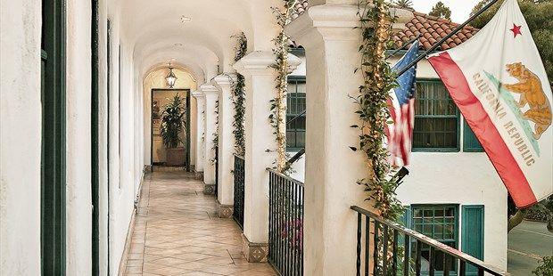 Montecito Inn: Santa Barbara landmark, built by Charlie Chaplin, a couple blocks from Butterfly Beach