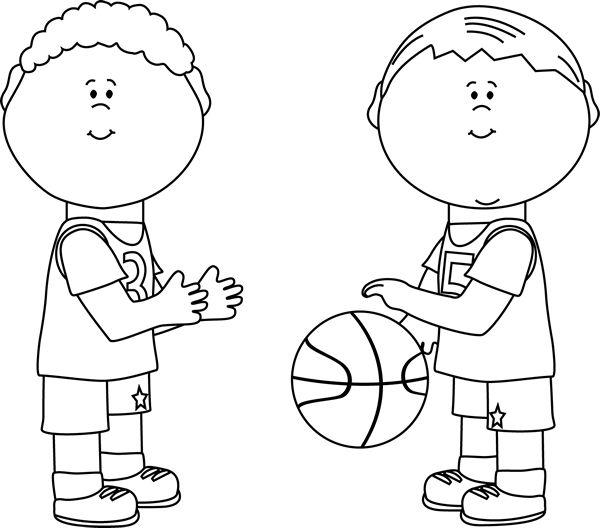 Black and White Boys Playing Basketball