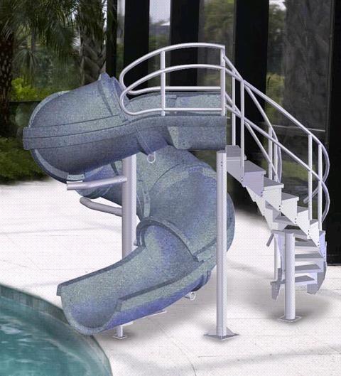 diy above ground pool slide