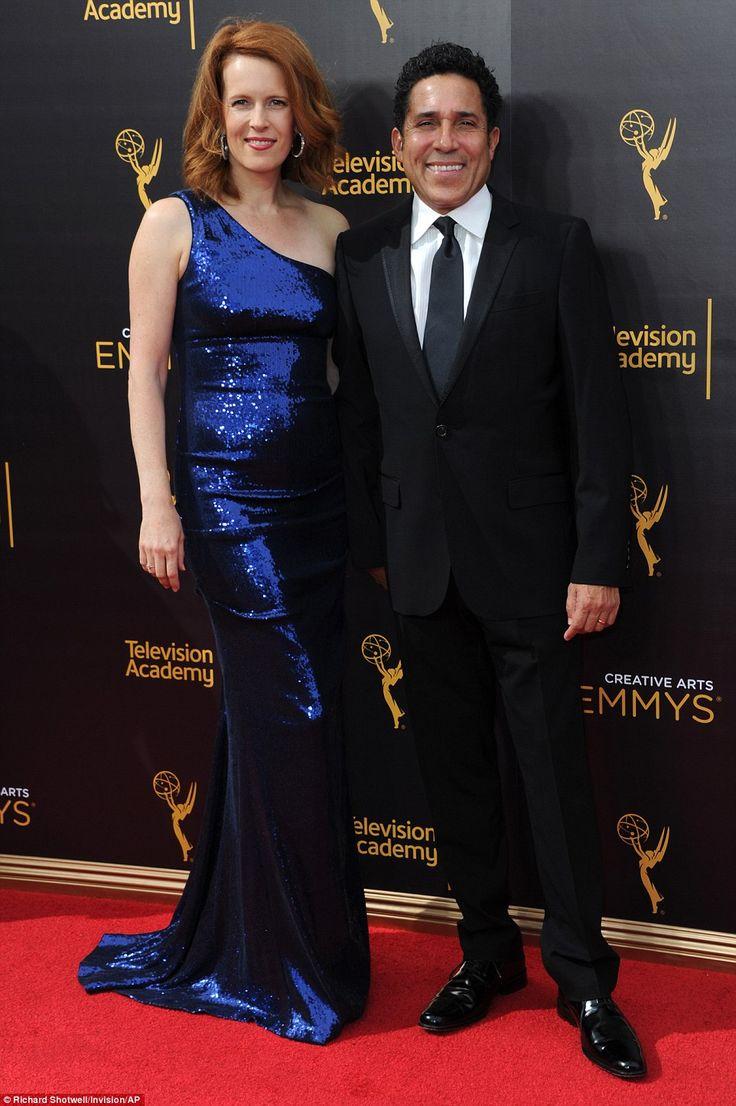 Proud couple:Oscar Núñez (right) was accompanied by his wife Ursula…