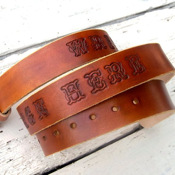 Leather Belt for men Personalized leather belt Jeans by JeansBelt