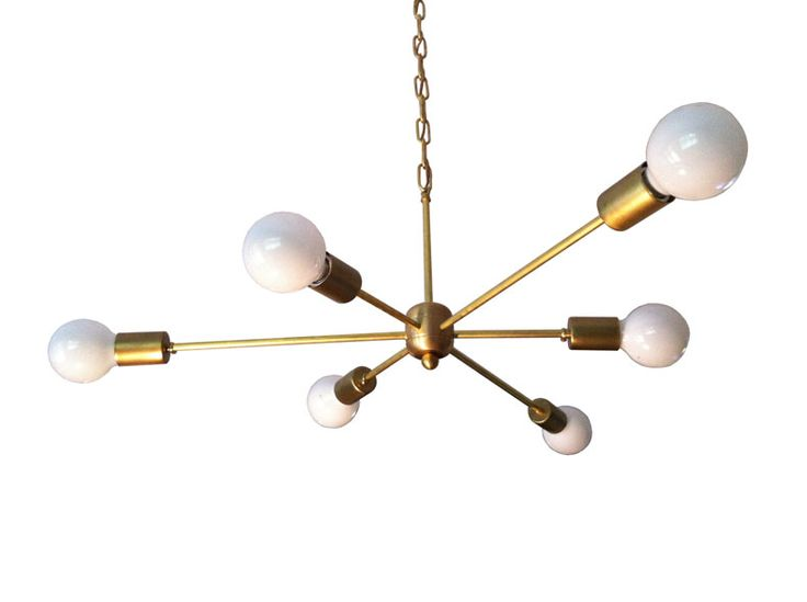 Image of solid brass spark light dining room