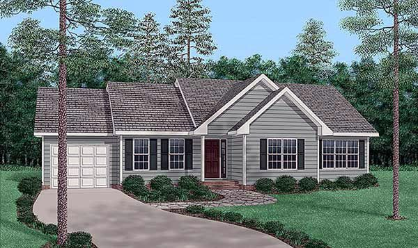 Traditional House Plan 45502 Elevation