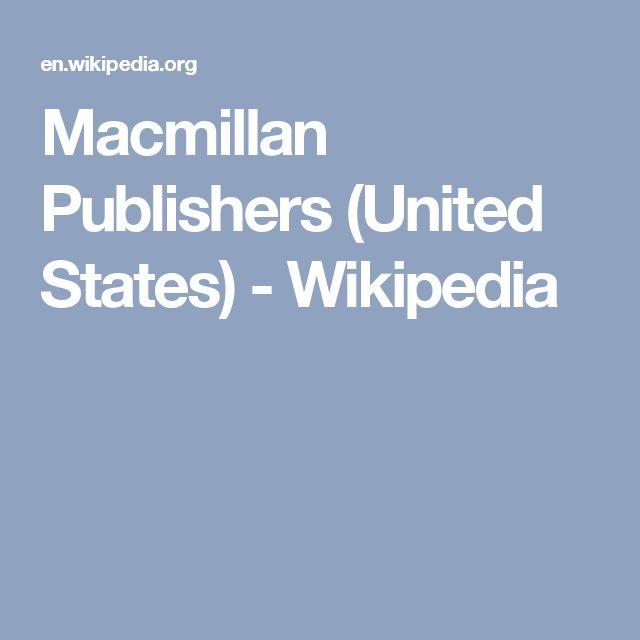 Macmillan Publishers (United States) - Wikipedia