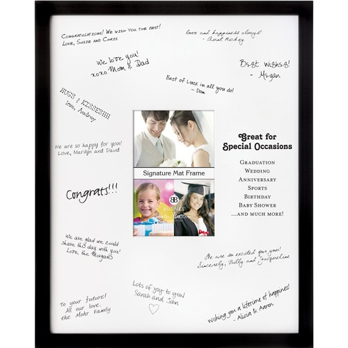 burnes signature mat photo frame black