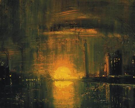 Theodore Major (1908-1999), Industrial Dawn (76 x 94 cm) on ArtStack #theodore-major-1908-1999 #art