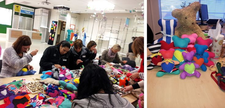 To bring some joy to the lives of children who don't have much, the Head Office and Distribution centre staff put their sewing skills to the test to create the cutest bears, handbags and mobiles for Mandela Day.