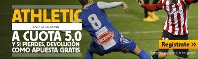 betfair Athletic gana Alcoyano cuota 5 copa rey 18 diciembre