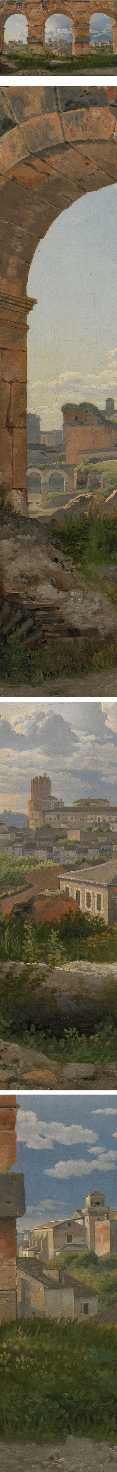 Eye Candy for Today: Eckersberg's view through arches of the Colosseum