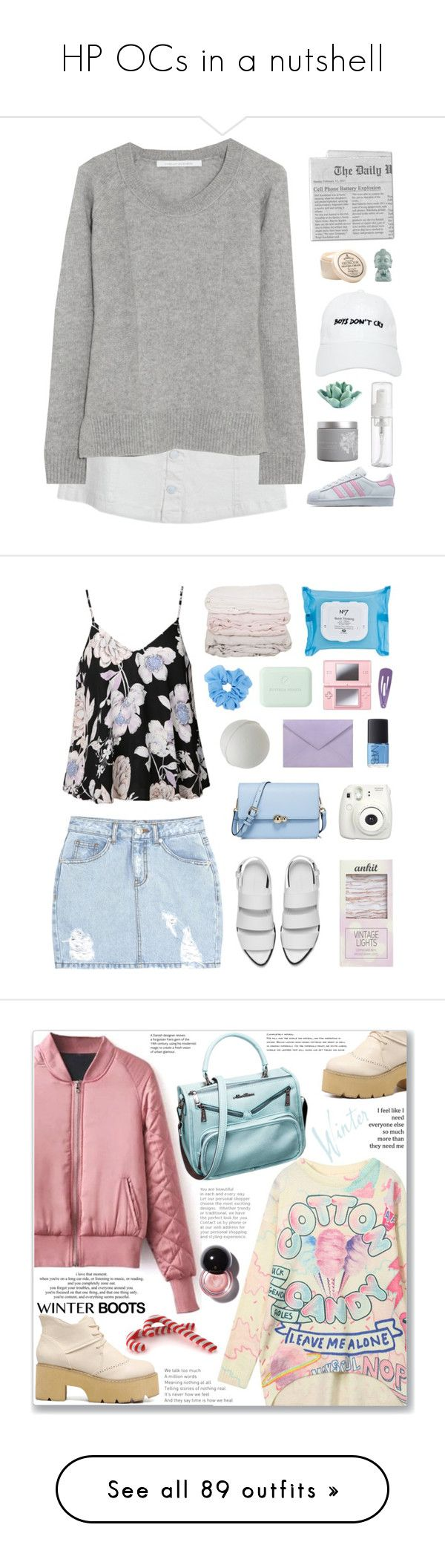 """HP OCs in a nutshell"" by circusclownjojo ❤ liked on Polyvore featuring Diane Von Furstenberg, Nasaseasons, red flower, adidas Originals, HomArt, D.R. Harris & Co Ltd., SJYP, Ally Fashion, Alexander Wang and Fujifilm"