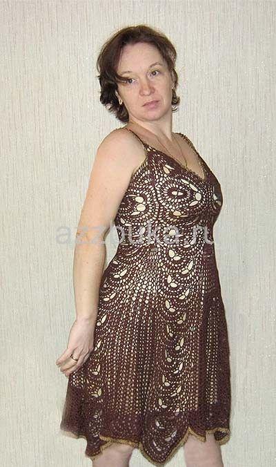 ленточное кружево-платье
