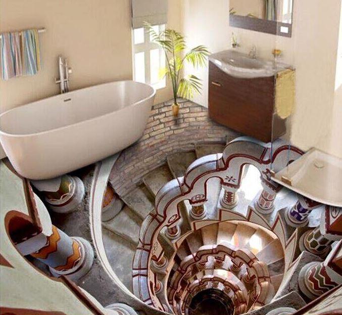 3D Badezimmer Fußboden