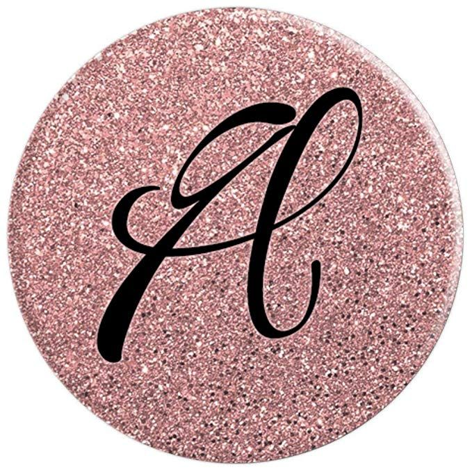 Amazon Com Rose Gold And Black Letter A Monogram Pop Socket Popsockets Grip And Stand For Phones And Tablets Cel Popsockets Pop Sockets Iphone Black Letter