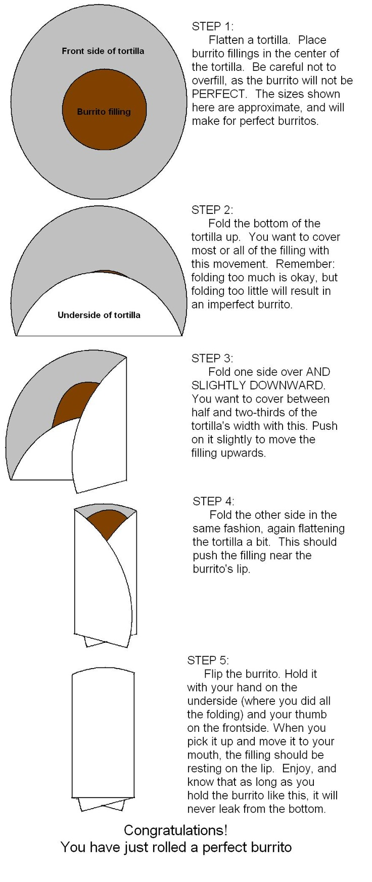 How to fold a perfect burrito. I always seem to have a hard time with this