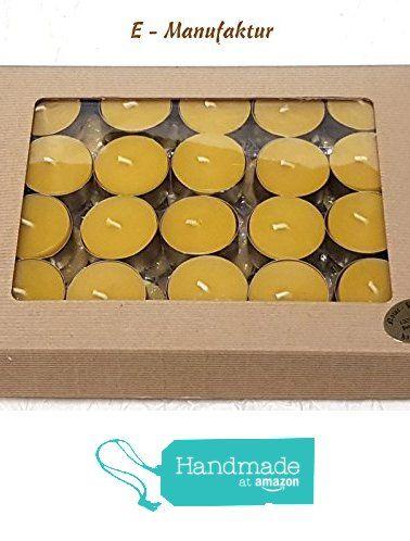 Bienenwachskerzen - 40 Stück Teelichter aus 100% echtem Bienenwachs in goldenen Aluschalen in hochwertigen Geschenkkarton offene Welle natur mit Fenster - Teelicht -Bees wax candles - 40 pcs Tealights made of 100% real beeswax in golden aluminum bowls in high quality gift box open natural wave with window tealight von der E-MANUFAKTUR https://www.amazon.de/dp/B06XQZY6HP/ref=hnd_sw_r_pi_dp_1dRZyb8K8JCYM #handmadeatamazon