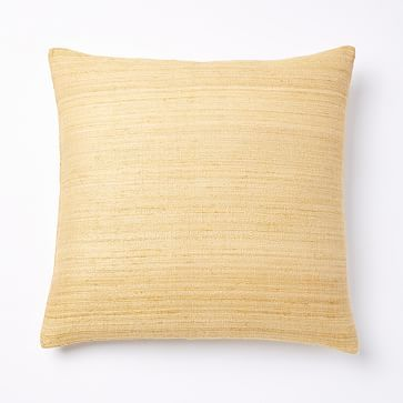 Woven Silk Pillow Cover - Horseradish #westelm